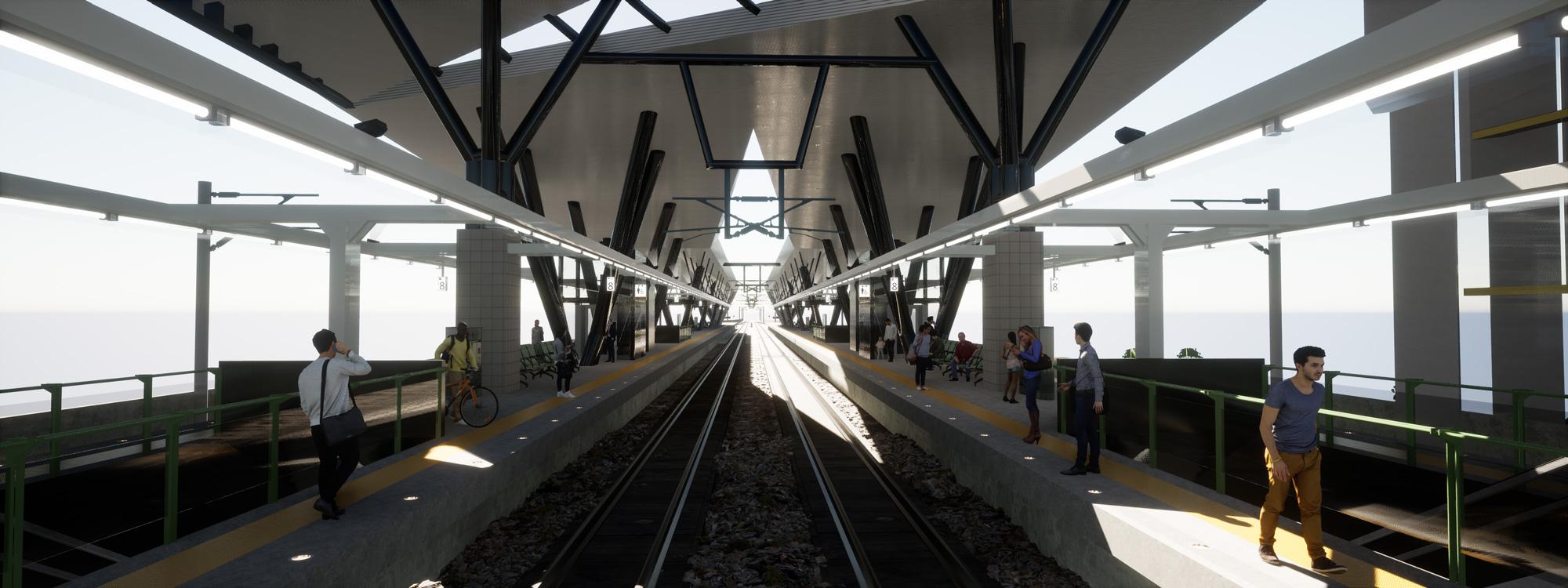 Dyade - Projet Train station Twin
