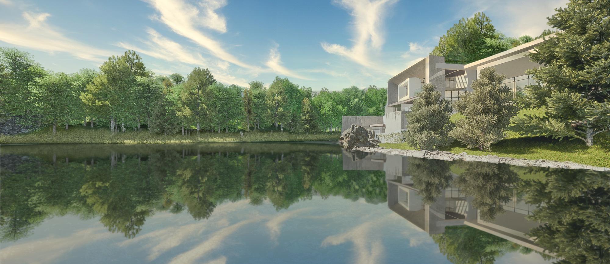 Dyade - Projet Villa Lac PSD